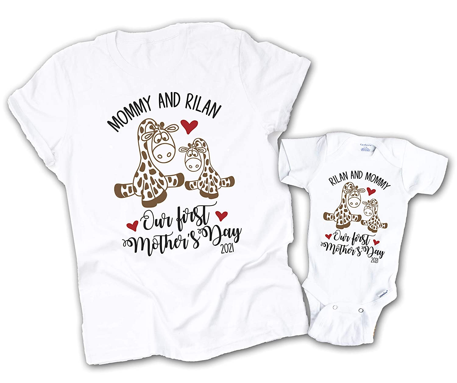 Regular dealer Matching Mommy and Me Shirts Giraffe First Seattle Mall Day Our Mothers Mot