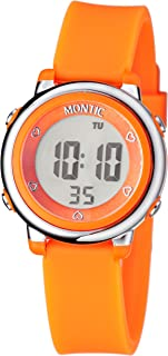 Montic Kids Orange Digital Sports Multi Function Watch with Alarm and Stopwatch Functions