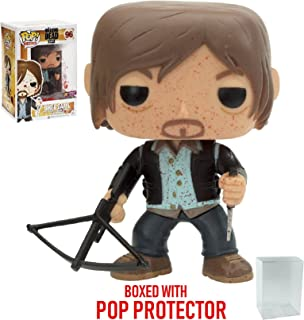 Funko Pop! TV: The Walking Dead - Biker Daryl Bloody Version PX Exclusive #96 Vinyl Figure (Bundled with Pop BOX PROTECTOR CASE)