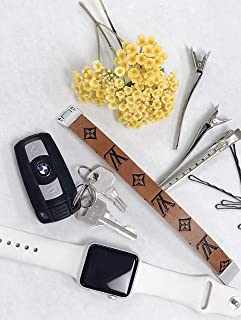 LV Leather Embossed Bracelet Monogram