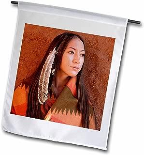 3dRose fl_92706_1 New Mexico Cherokee Woman Native American US32 Jmr0634 Julien Mcroberts Garden Flag, 12 by 18-Inch