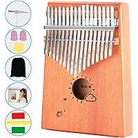 ActFun Kalimba 17 Keys Thumb Piano with Study Instruction and Tune Hammer