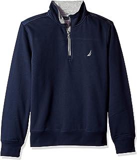 Men's 1/4 Zip Pieced Fleece Sweatshirt
