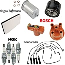Volvo 240 1990-1993 Tune Up Kit Filters Cap Rotor Spark Plugs Wire Set