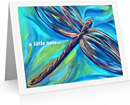 Dragonfly Note Cards (12 Foldover Cards and Envelopes) Butterfly Thank You Cards
