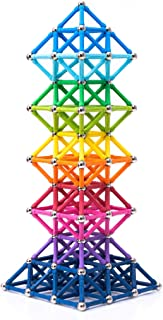 BANBBY 145pcs Magnetic Building Blocks Construction Set Toy Upgraded Lengthen 1.3in Sticks (10 Colors)
