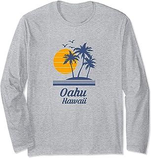 オアフ島ハワイビーチアイランド Oahu Hawaii Beach Island 長袖Tシャツ