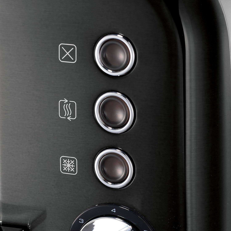 Morphy Richards M242018EE Accents Refresh grille-pain, 1800 W, Noir Noir