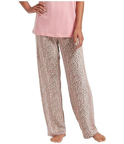 HUE Leopard Stripe Long PJ Pants (Iron) Women
