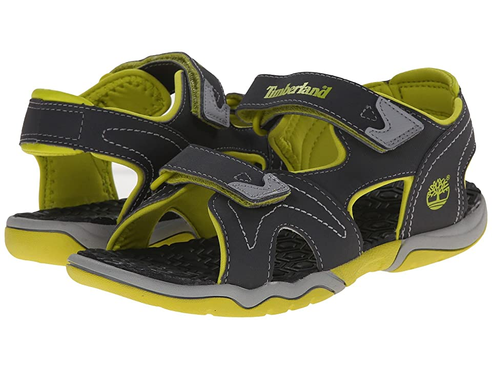 Timberland Kids Adventure Seeker 2 Strap Sandal (Big Kid) (Dark Grey/Green) Kids Shoes
