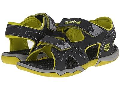 Timberland Kids Adventure Seeker 2 Strap Sandal (Big Kid) (Dark Grey/Green) Kids Shoes