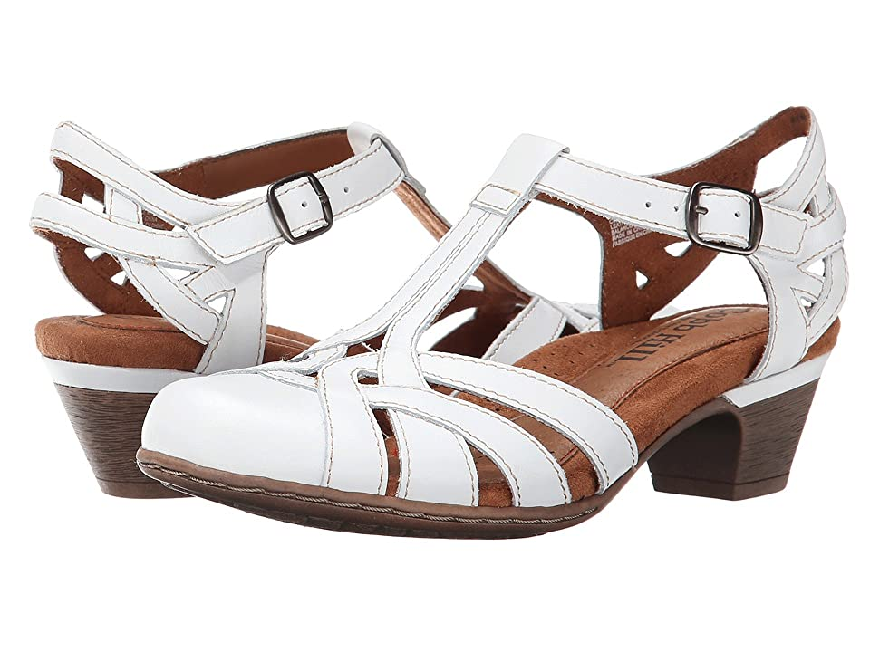 Vintage Sandal History: Retro 1920s to 1970s Sandals Rockport Cobb Hill Collection Cobb Hill Aubrey White Womens 1-2 inch heel Shoes $99.95 AT vintagedancer.com