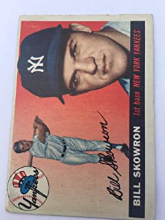 1955 Topps #22 Bill Moose Skowron New York Yankees Original Authentic