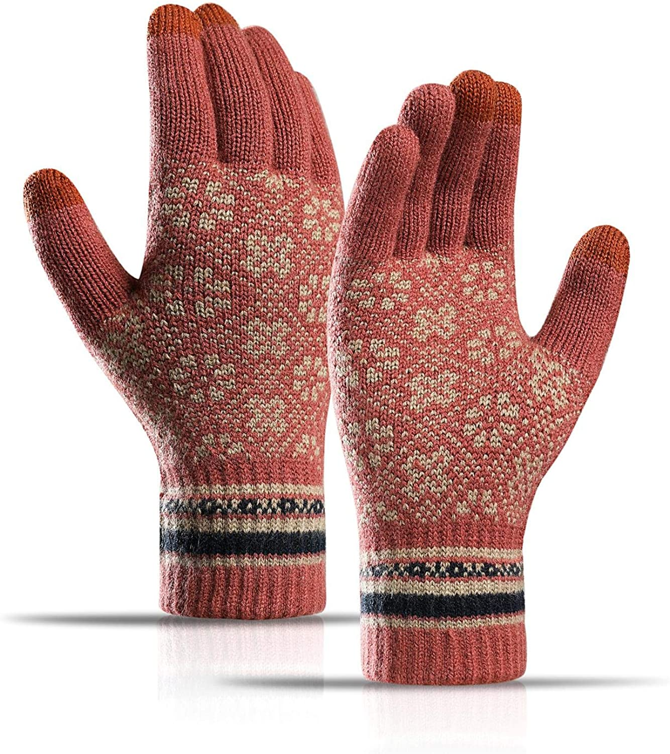 Max 86% OFF Winter Knit Gloves Touchscreen Free Shipping New Snow Warm Pattern Thermal