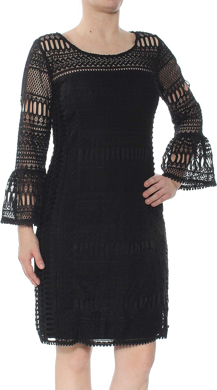 Alfani Women's TrumpetSleeve Crochet Dress