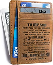 Minimalist Wallets Gift for son daughter from Dad Slim Wallet Cowhide wallet RFID Front Pocket Wallet