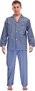 RK Classical Sleepwear Men's Broadcloth Woven Pajama Set