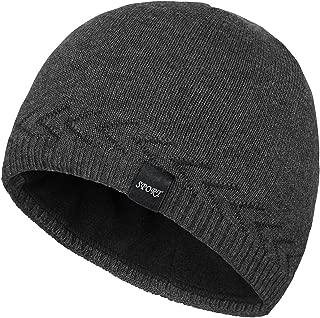 Mens Winter Warm Knitting Hats Plain Skull Beanie Cuff Toboggan Knit Cap 4 Colors