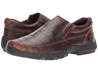 Roper Owen (Brown Caiman Print Leather Upper) Men