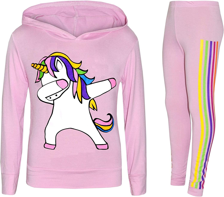 NEW Girls Kids Unicorn Floss Like A Boss Outfit Tracksuit Age 7 8 9 10 11 12 13