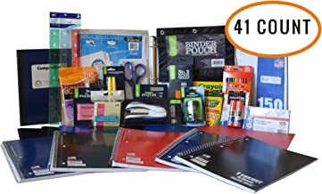 Ultimate Back To School Supply Pack Bundle - Pencils, Crayons, Trapper Keepers, Binder, Highlighters, Notebooks, Scissors, Glue, Folders, Rulers, Pens, Staples, Sharpener and More