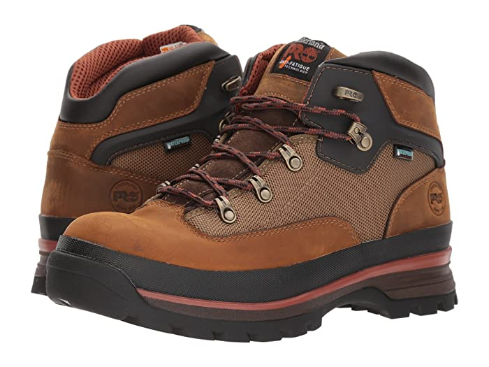 Timberland PRO  Euro Hiker Soft Toe Waterproof (Taupe) Mens Work Lace-up Boots