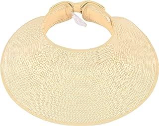 Simplicity Women's Summer Foldable Straw Sun Visor w/Cute...