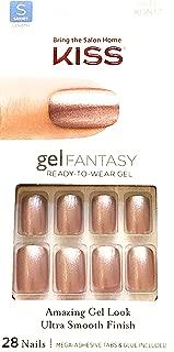 Kiss Gel Fantasy Short Length Pink Gel Nails # 69117 No Pressure w/Adhesive Tabs & Glue