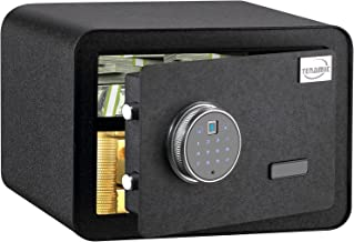 Tenamic Luxury Safe Biometric Fingerprint Safe Box 0.85 Cubic Feet Electronic Touch Screen Keypad Security Box with Induct...