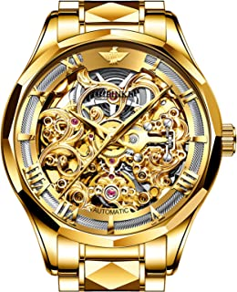 Swiss Brand Mens Watches Luxury Skeleton Automatic Self Winding Sapphire Crystal Tungsten Waterproof Wrist Watches for Men