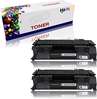 Hi Ink Compatible Toner Cartridge Replacement for CE505A (Black, 2-Pack)