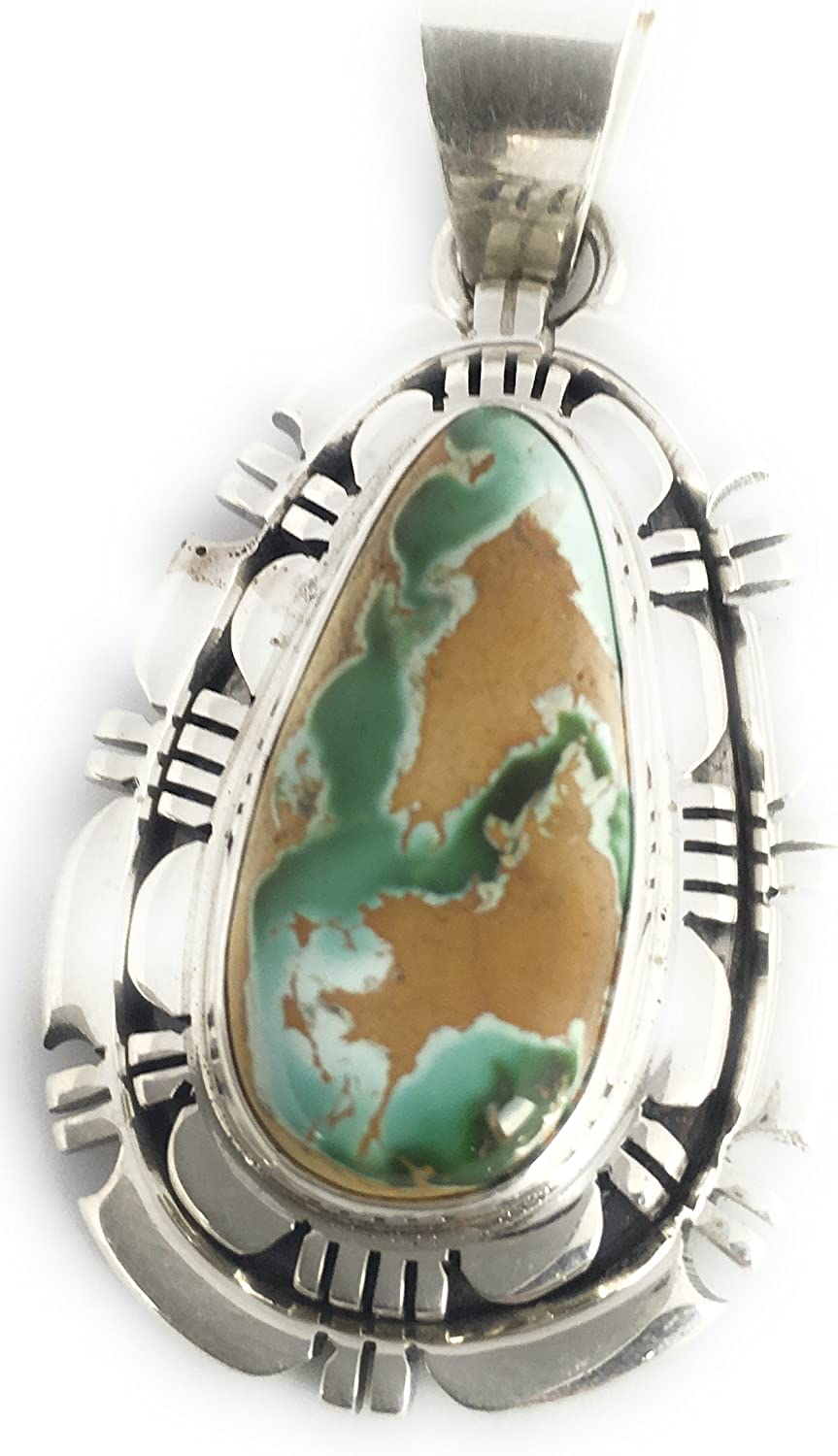 Native American Sterling Silver Royston Turquoise Necklace Pendant T Francisco