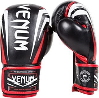 Venum Sharp - Guantes de Boxeo, Color Negro/Rojo