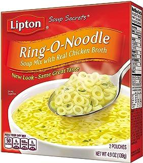 Sponsored Ad - Lipton Soup Secrets Instant Soup Mix Ring-O-Noodle 4.9 oz, Pack of 12