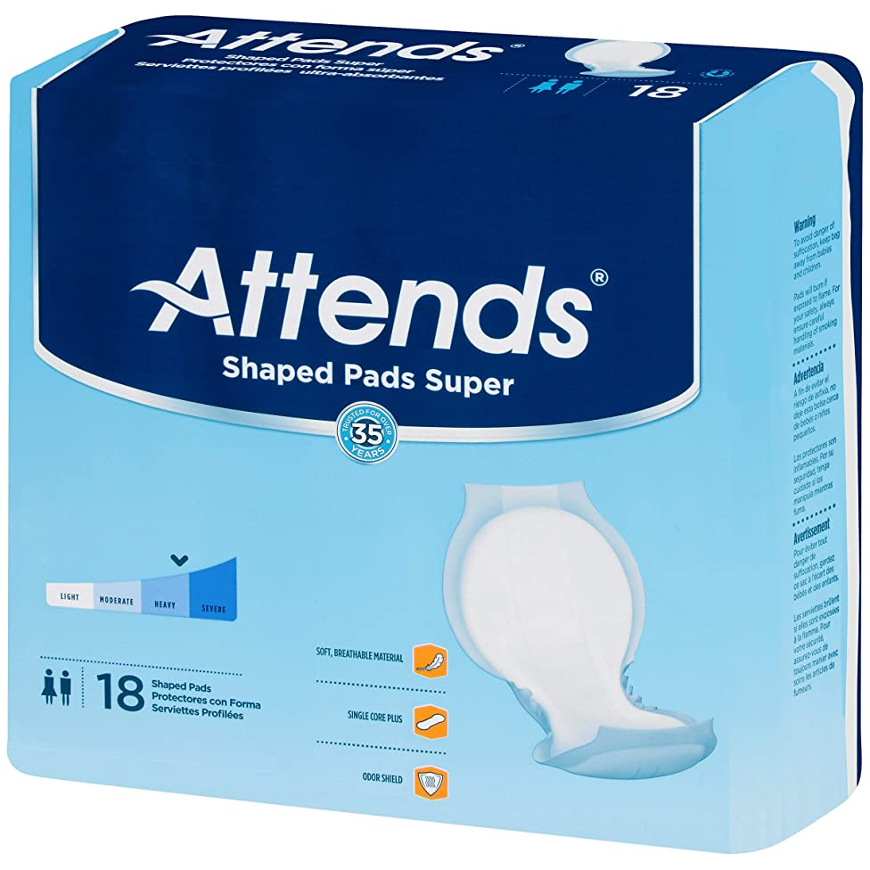 Attends SPS Shaped Pads, Super Level, 24.5