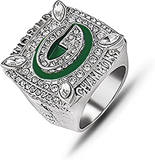 HASTTHOU Super Bowl Championship Replica Ring for Sports Fans (2010 Green Bay Packers, Without Box)