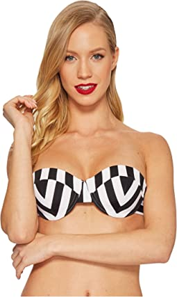 Unique Vintage - Charlene Bandeau Top