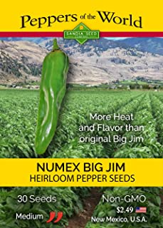 Big Jim Green Chile Seeds - NuMex Variety - 30 Seeds from New Mexico