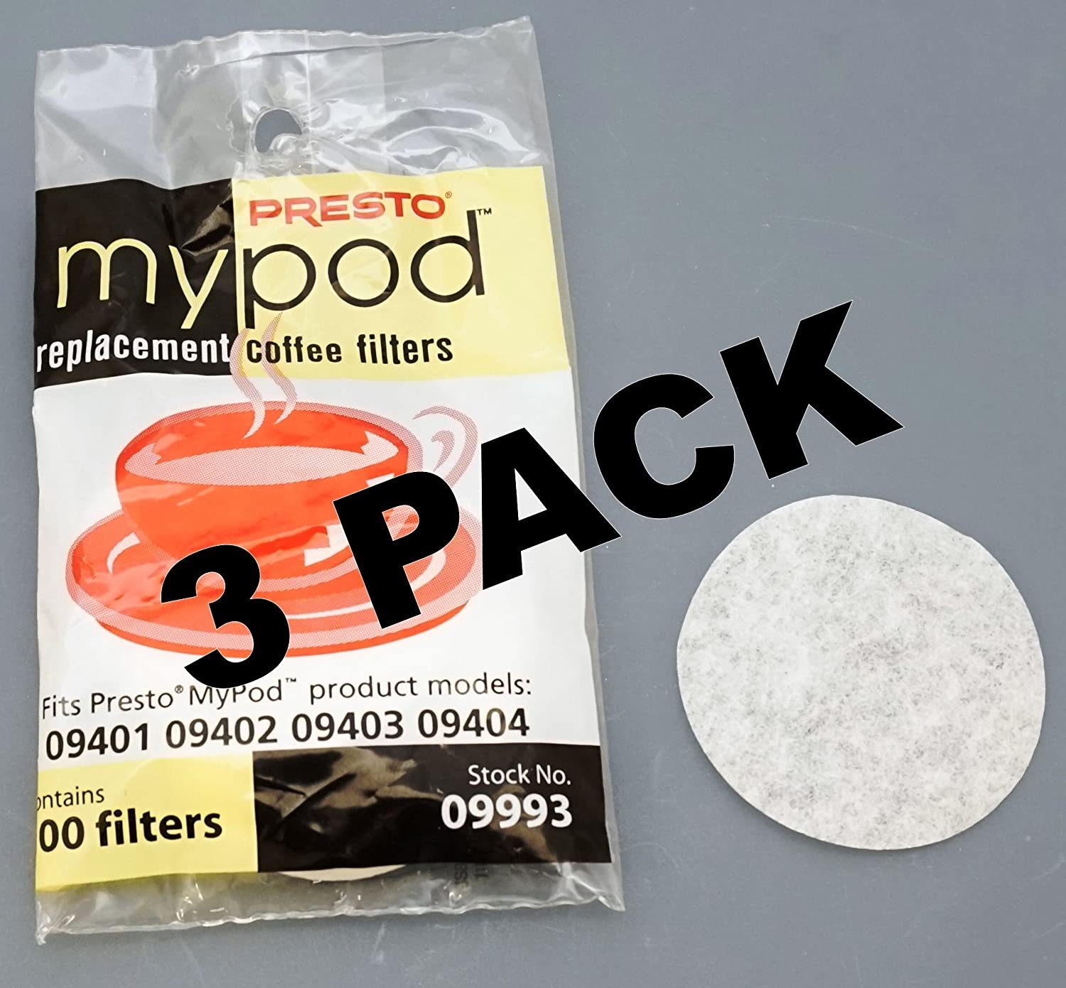 3 Pk Limited free time trial price Presto MyPod Replacement 100 09993 ct Filters Coffee
