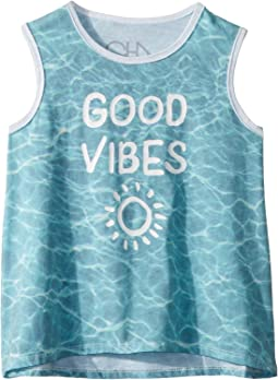 Extra Soft Good Vibes Tank Top (Toddler/Little Kids)