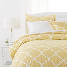 Pinzon 300-Thread-Count 100% Cotton Cool Percale Duvet Cover Set, King, Straw