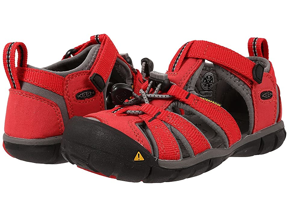 Keen Kids Seacamp II CNX (Toddler/Little Kid) (Racing Red/Gargoyle) Kids Shoes