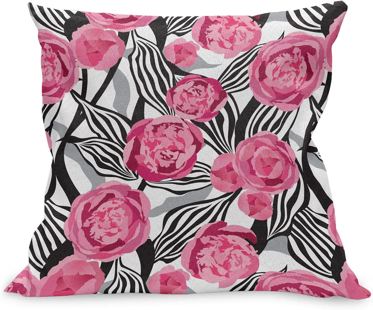 Lunarable Retro Throw Pillow Bombing free shipping Cushion Abstract of Case Soldering R Bouquet