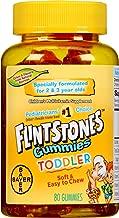 Flintstones Toddler Gummies Multivitamin, Kids Vitamin Supplement with Vitamins A, C, D, E, B6, and B12, 80 Count