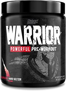 Nutrex Research Warrior Pre Workout Energy Supplement, Boost Energy, Endurance, Focus, Pumps, Non Itch, 30 ...