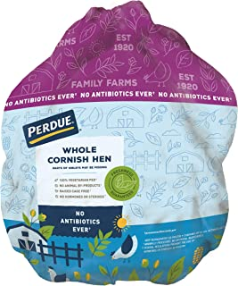 Perdue, Whole Cornish Hen with Giblets, All Natural, No Antibiotics Ever, Frozen Fresh, 1.5 pounds