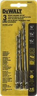 DEWALT Masonry Drill Bit Set, Rotary, 3-Piece (DW2571)