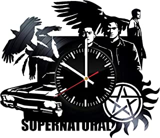 Supernatural Vinyl Wall Clock - Wall Art Room Decor Handmade Decoration Party Supplies Theme Birthday Gift - SuperPopular TV Series Handmade Art Decoration For Room - Vintage And Modern Style