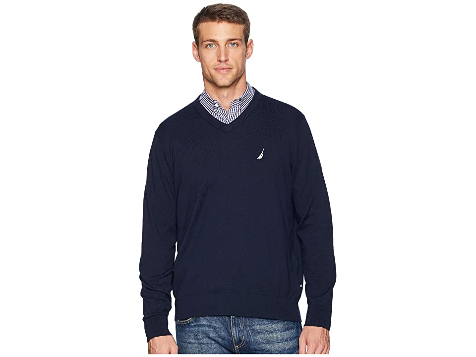 Nautica V-Neck Sweater (Navy) Men