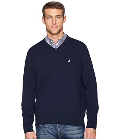 Nautica V-Neck Sweater (Navy) Men